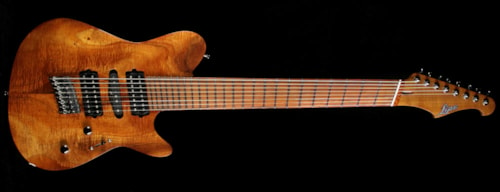 Lipe Ivo Fanned Fret Koa Eight-String Electric Guitar Natural