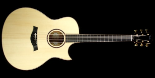 Taylor Used 2015 Taylor Custom Shop BTO Grand Symphony Tasmanian Myrtle Acoustic-Electric Guitar Natural
