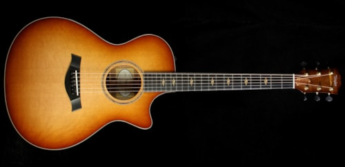 Taylor Custom Shop BTO Grand Concert Hawaiian Koa Acoustic-Electric Guitar Shaded Edgeburst