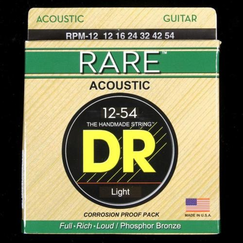 DR Phosphor Bronze Acoustic Guitar Strings 12-54