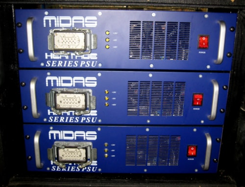 2001 Midas Heritage 2000 Mixing Console 56+ Channel 3 Power Supplies Ca