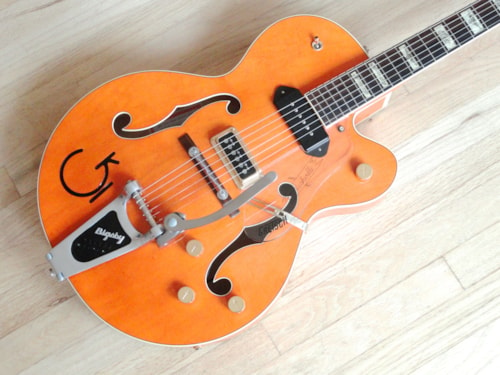 2005 Gretsch G6120W-1957 Eddie Cochran Signature Guitar Orange Western
