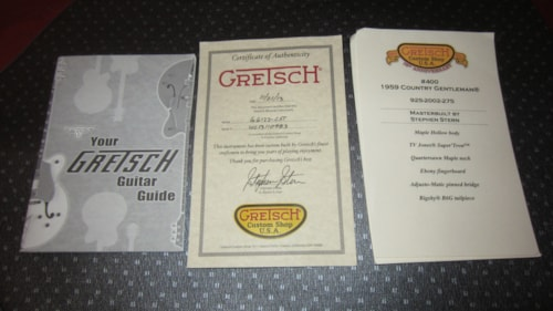 2013 Gretsch Custom Shop Country Gentleman G-6122-CST Stephen Stern