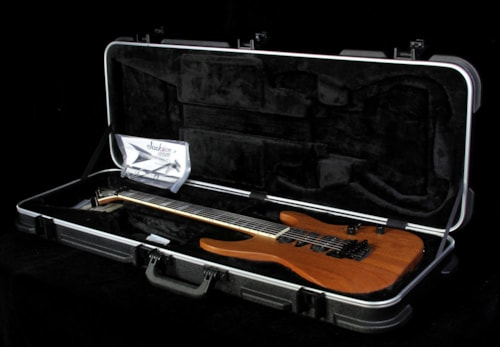 Jackson Custom Shop Music Zoo Exclusive SL2H Soloist Carbonized Mahogany Electric Guitar Natural Oil