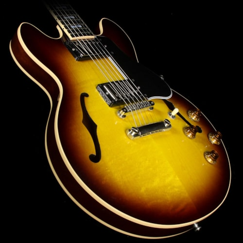 Gibson Custom Shop Used 2008 Gibson Custom Shop One-Off CS-336 Super 400 Split Block Electric Guitar Vintage Sunburst
