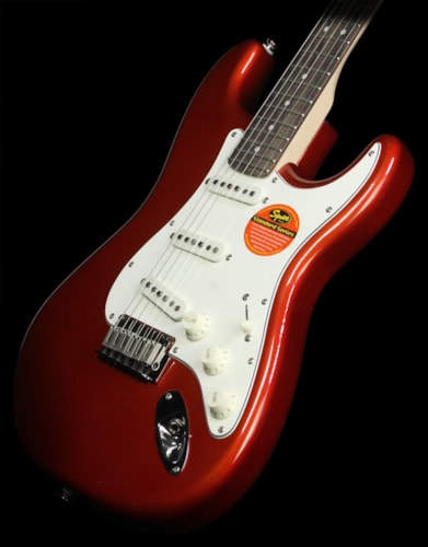 Squier Used Squier by Fender Standard Stratocaster Electric Guitar Candy Apple Red