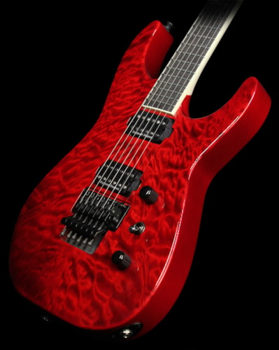 Jackson Used Jackson CS Special Edition SL2Q Soloist Guitar Transparent Red