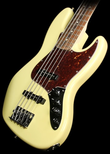 Fender® Used Fender® Deluxe Series Active Jazz Bass® V Electric Bass Guitar Vintage White