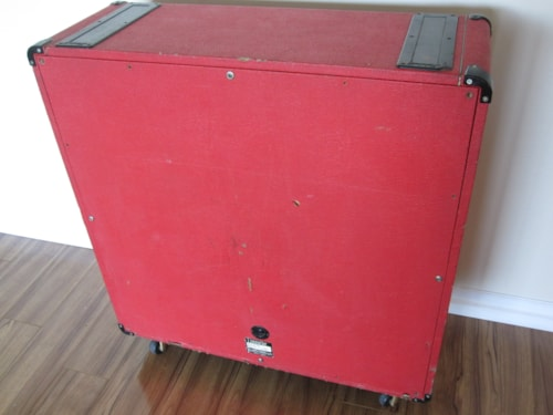 ~1973 VINTAGE RED LEVANT MARSHALL 1960A 4x12 CELESTION CAB