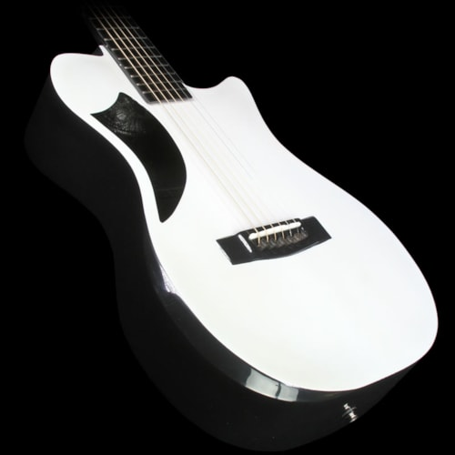 Journey Instruments OF660 Carbon Fiber Acoustic-Electric Guitar Pearl White