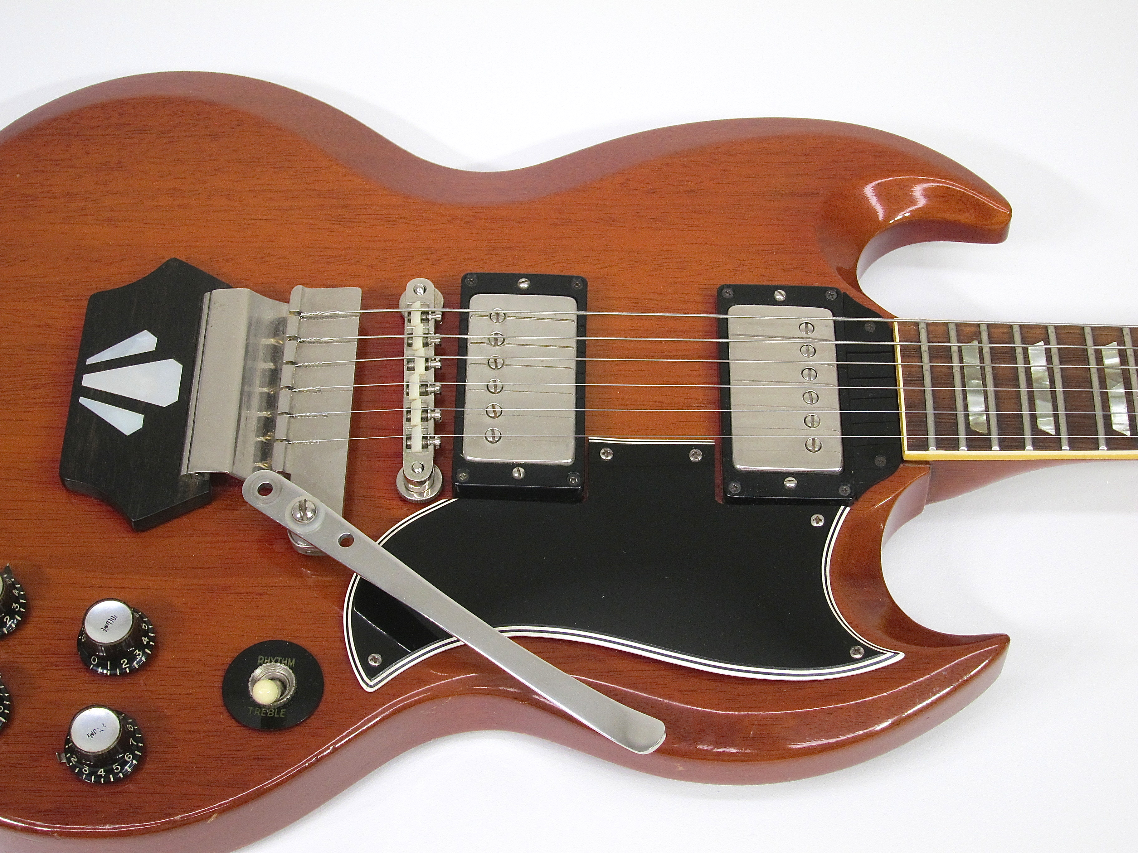 1962 gibson sg standard ebony block cherry red faded guitars electric solid body vintage. Black Bedroom Furniture Sets. Home Design Ideas