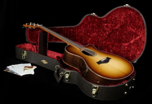 Taylor Custom Shop BTO Grand Concert Indian Rosewood Acoustic-Electric Guitar Shaded Edgeburst