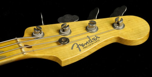 Fender® Custom Shop Used 2015 Fender® Custom Shop 2016 Limited Edition '57 Precision Bass® Journeyman Relic® Electric Bass White Blonde