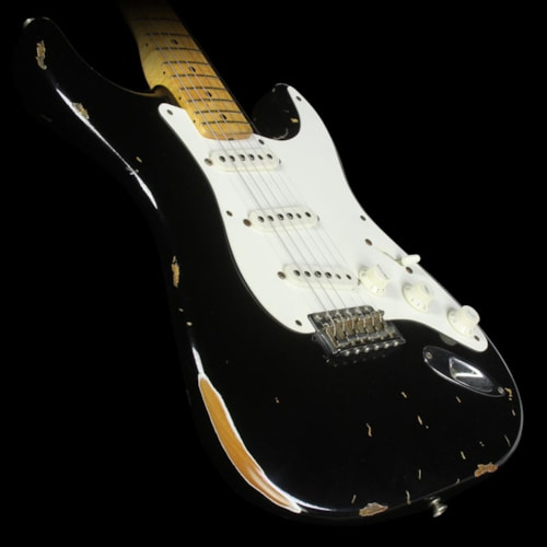 Fender® Custom Shop Used 2000 Fender® Custom Shop '56 Stratocaster® Relic® Electric Guitar Black