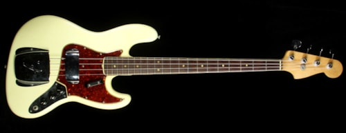 Fender Used 1966 Fender Jazz Bass Electric Bass Refinished White