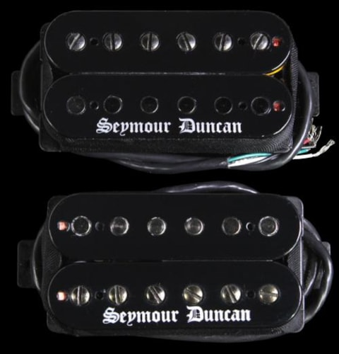 Seymour Duncan Black Winter Humbucker Guitar Pickup Set Black