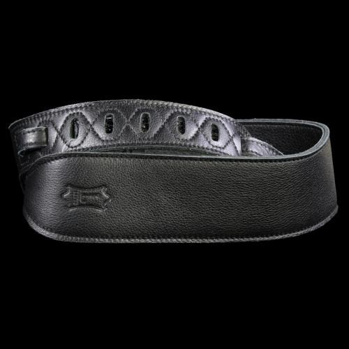 Levy's PM70GG Garment Leather Guitar Strap Black