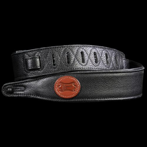 Levy's MG217 Garment Leather Bass Guitar Strap Black