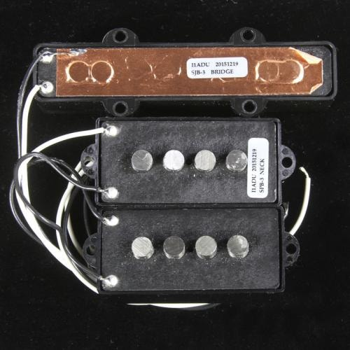 Seymour Duncan Quarter Pound Electric P-J Bass Set (Black)