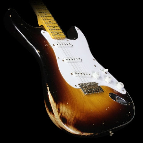 Fender Custom Shop Used 2014 Fender Custom Shop 60th Anniversary 1954 Stratocaster Relic Electric Guitar 2-Tone Sunburst