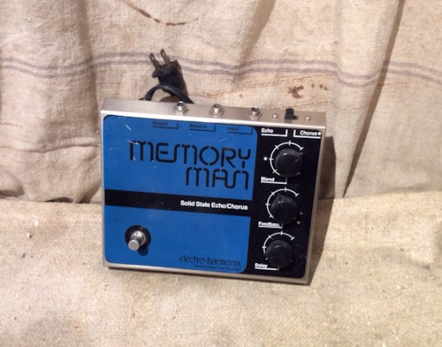 1979 electro harmonix memory man echo delay chorus pedal blue black effects southside guitars. Black Bedroom Furniture Sets. Home Design Ideas