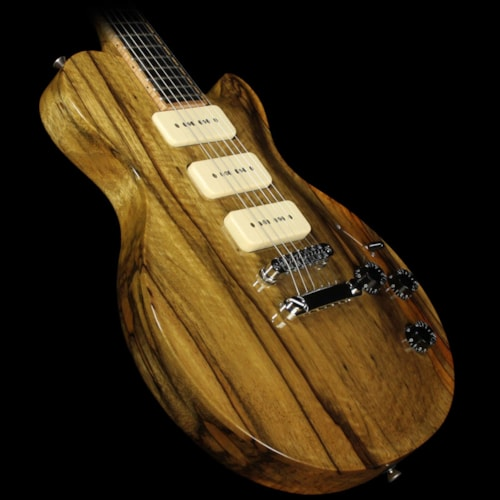 McNaught Used McNaught Guitars DTM Black Limba Electric Guitar Natural