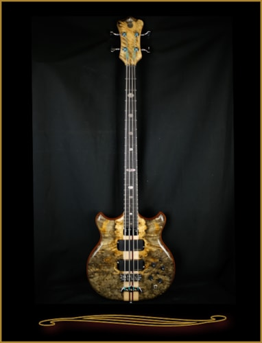 2016 Alembic Stanley Clarke Deluxe in Buckeye Burl with Side LEDs