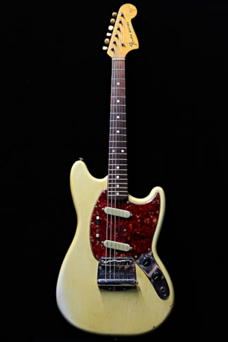 1964 Fender Mustang Olympic White Gt Guitars Electric Solid
