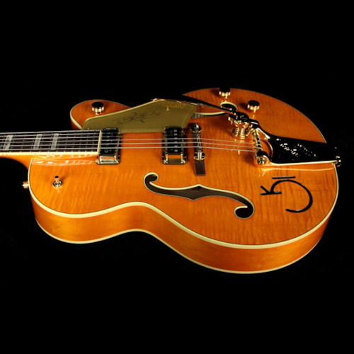 Gretsch® G6120T-55GE Vintage Select 1955 Chet Atkins Hollow Body with Bigsby Electric Guitar Vintage Orange Stain