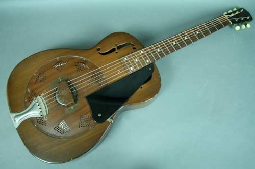 1937 National Duolian Steel Body 14 Fret Resonator Acoustic Guitar