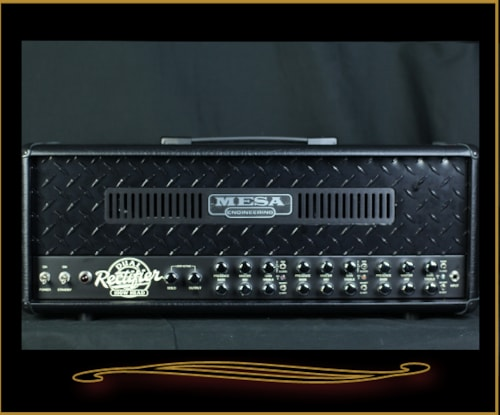 Mesa Boogie Dual Rectifier Solo Head with Black Diamondplate Front Panel