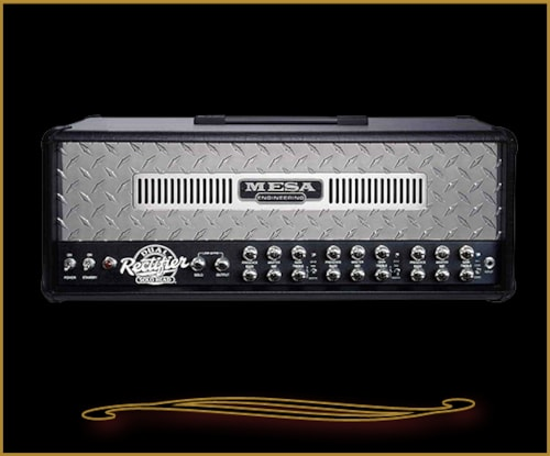 2016 Mesa Boogie Dual Rectifier Solo Head Chrome Diamondplate Front Panel