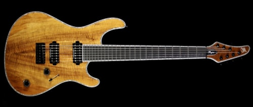 Mayones 2016 NAMM Display Regius 7 Seven-String Electric Guitar Koa