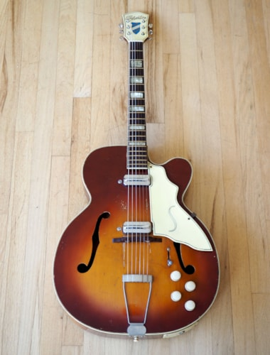 ~1955 Silvertone Aristocrat 1365 Vintage Archtop Electric Guitar Kay UpBeat