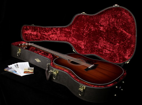 Taylor 2015 Limited Edition 320e Mahogany Top Dreadnought Acoustic/Electric Guitar Shaded Edgeburst