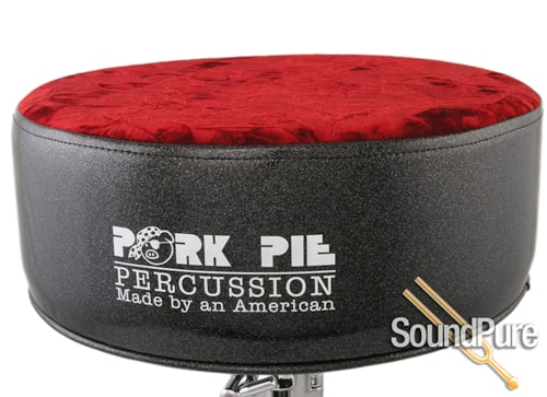 Pork Pie Percussion Black sparkle/red cr