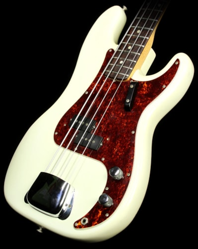 Fender Used 1968 Fender Precision Bass Electric Bass Guitar Olympic White