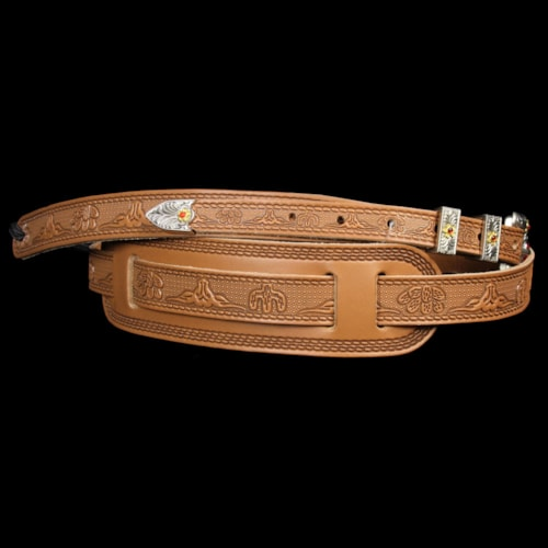 Gretsch Tooled Leather Guitar Strap Vintage Russet