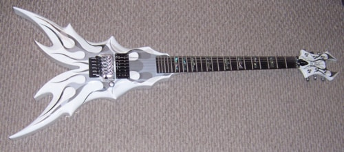 2015 B C Rich Draco Ghost Flying V