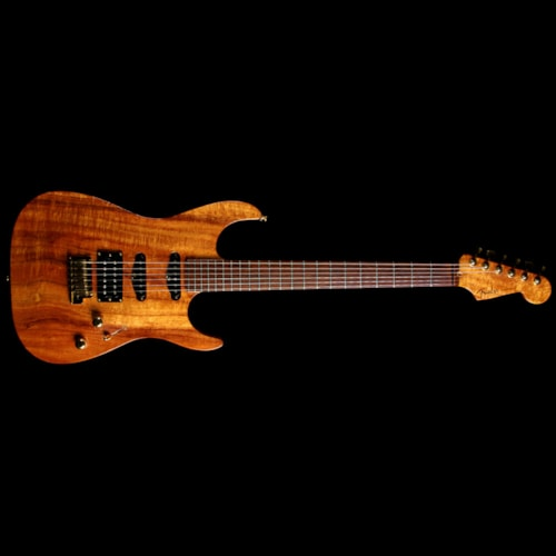 Fender Custom Shop Used 1999 Fender Custom Shop Masterbuilt Jason Davis Koa Showmaster™ Calendar Electric Guitar