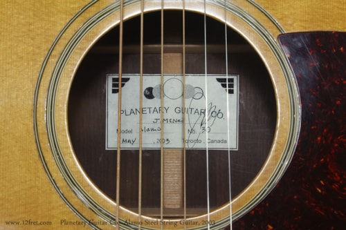 2003 Planetary Guitar Co. Alamo