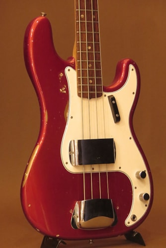 "1966 Fender® USA Precision Bass® ""Original Candy Apple Red"""