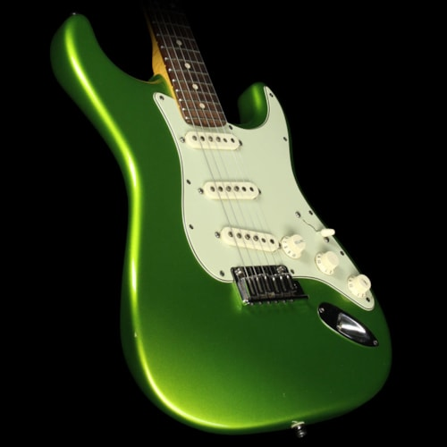 Fender® Custom Shop Used 2011 Fender® Custom Shop Custom Deluxe Electric Guitar Metallic Lime Green