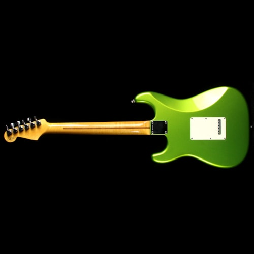 Fender® Custom Shop Used 2011 Fender® Custom Shop Custom Deluxe Stratocaster® Electric Guitar Metallic Lime Green