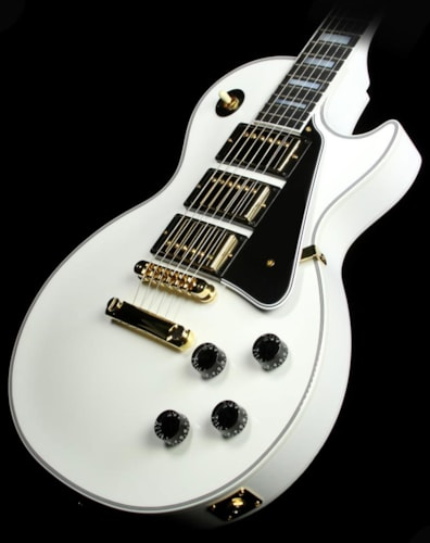Gibson Custom Shop Used Gibson Custom Shop Les Paul Custom Three Pickup Electric Guitar Antique White