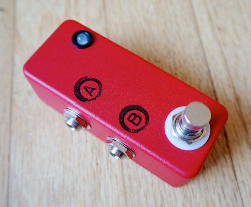JHS Pedals Mini A/B Switch Electric Guitar Effects Pedal Red w ...