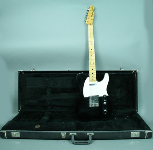 1974 Fender® Telecaster® Vintage Electric Guitar Black Refinished Body OHS