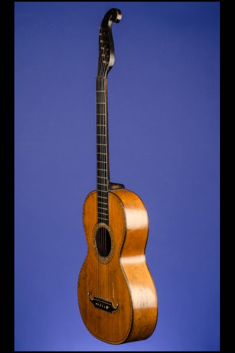 "1850 Markneukirchen ""Stauffer Style"" Parlor Guitar 12 fret to body"