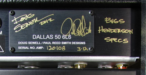 Paul Reed Smith Dallas 50 1x12 Combo Limited Edition Bugs Henderson Specs