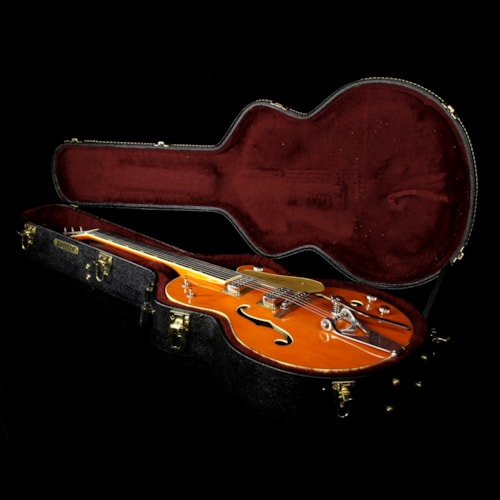 Gretsch G6120T-59GE Vintage Select 1959 Chet Atkins Hollow Body with Bigsby Electric Guitar Vintage Orange Stain